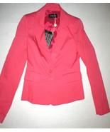 NWT New Womens 2 4 Designer Patrizia Pepe Dark Freah Rose Pink Blazer Ja... - $695.00