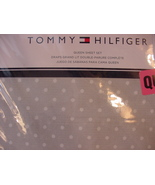 Tommy Hilfiger Gray with White Polka Dots Sheet Set Queen - $48.00