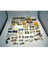 Vintage Costume Jewelry Lot of 50 Pairs Earrings C2660 - $47.24