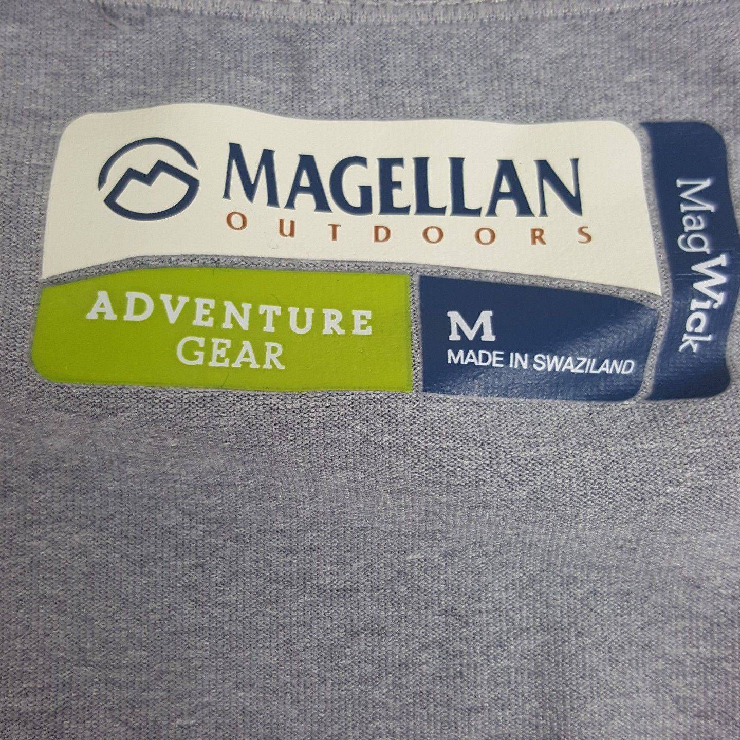 Magellan Outdoors Adventure Gear Womens Medium Grey Cap Sleeve Wicking Shirt EUC
