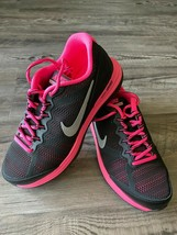 Nike Womens Dual Fusion Run 654143-001 Black Pink Running Shoes- Size 7Y... - $59.40