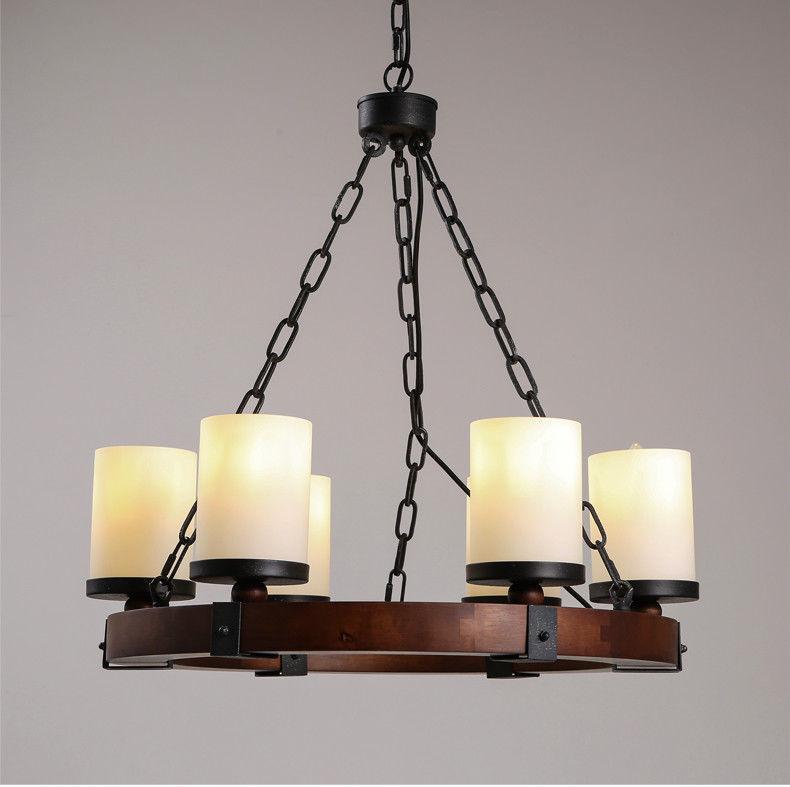 Camino Round Chandelier E14 Light Ceiling Lamp Milk Glass Home Lighting Fixture
