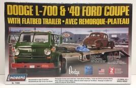 (New) Lindberg Dodge L-700 w/Flatbed &40 Ford Coupe 1/25 Model Car Kit #... - $48.99