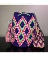 Authentic 100% Wayuu Mochila Colombian Bag Medium Size Gorgeous Colors - £44.35 GBP