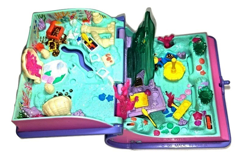 Polly Pockets 1995 Mermaid Adventure Book - $16.00