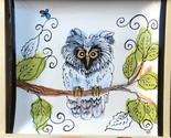 """New Artables Debra Drunner 10"""" Square Plate Owl Design"""