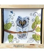 """New Artables Debra Drunner 10"""" Square Plate Owl Design - $49.38"""