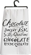 """Primitives by Kathy LOL Made You Smile Dish Towel, 28"""" x 28"""", Chocolate ... - $7.10"""