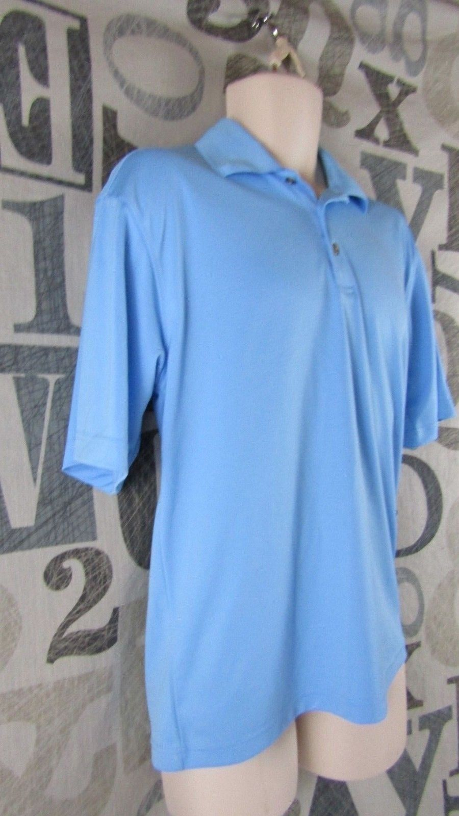 brand new 0aaa4 dce05 Pebble Beach Performance Golf Polo Shirt Sky and 50 similar items