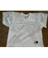 mesh football practice half jersey white Large High school Role Play Gay - $16.86