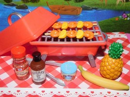 """18"""" Doll Hawaiian BBQ Grill hamburger Cookout fits Our Generation Americ... - $19.79"""