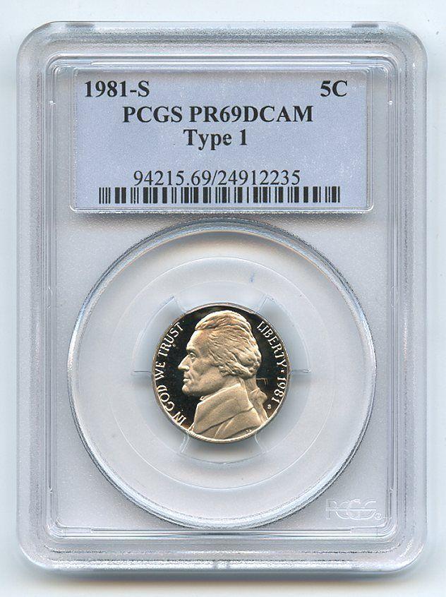 1981 S 5C Jefferson Nickel Proof PCGS PR69DCAM  20180155 - $15.88