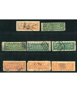 Eight Canada Two & Five Cent Registered Stamps Used - $3.95