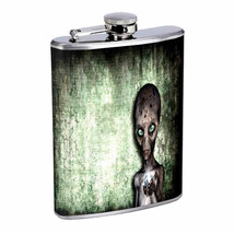 Cracked Alien Em1 Flask 8oz Stainless Steel Hip Drinking Whiskey - $279,96 MXN