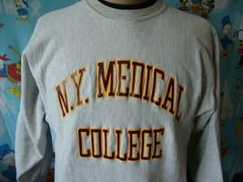 Vintage 90's N.Y. Medical College New York Champion Reverse Weave Sweatshirt M - $68.31