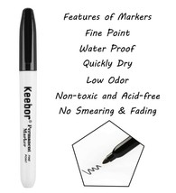 Permanent Fine Marker, Black, Keebor Brand image 2