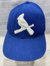 St Louis CARDINALS Baseball New Era Blue Fitted Adult Cap Hat Size 7 3/8 - $14.84