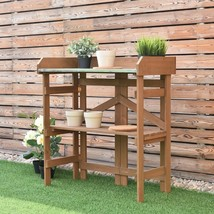 Wooden Potting Bench Garden Planting Plants Flowers Storage Workstation ... - €65,85 EUR