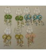 Beaded Crochet Hook Earrings Qty 7 Base Metal - $16.06