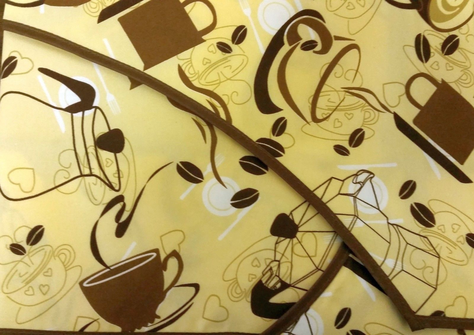 """Fabric Kitchen Apron with pocket, w/ small towel, 23"""" x 36"""", COFFEE design # 3 - $12.86"""