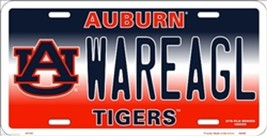 NCAA University of Auburn WAREAGL Tigers Metal Car License Plate Sign - $6.95
