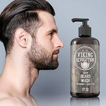 Best Deal Beard Wash Shampoo w/Argan & Jojoba Oils - Softens & Strengthens - Nat image 4