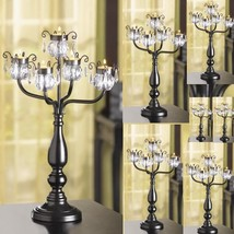 30 Crystal Tree Candelabra Black Candleholder Wedding Centerpieces image 1