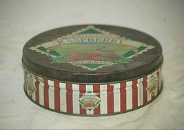 Vintage Old Fashioned Raspberry Preserves Lithograph Metal Tin Can Canis... - $16.82