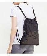 Nike HERITAGE GRAPHIC GYM SACK +ZIP pocket TRAINING DRAW BAG BACKPACK BA... - $29.99