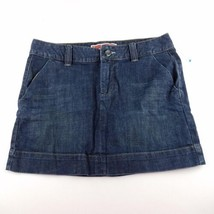 Gap Jeans Denim Skirt Womens Size 10 Blue Navy Above Knee Cotton Blend A... - $13.48