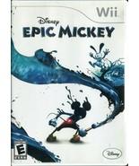 Disney Epic Mickey (Nintendo Wii, 2010) - Complete - $3.95