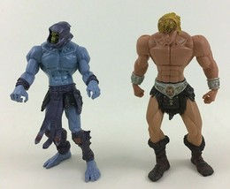 "He-Man Skeletor Action Figures Lot 2pc Toys 6"" MOTU 2001 Mattel Figure - $22.23"