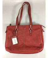 "Buxton 15"" Laptop Tablet Red Leather Briefcase Shoulder Bag Organizer - $63.70"
