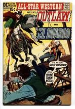 ALL-STAR WESTERN #4 1970 comic book DC OUTLAW EL DIABLO ADAMS CVR FN+ - $47.92