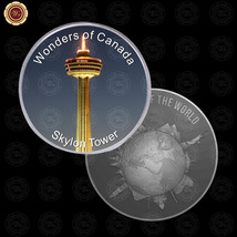 WR Wonders of Canada Skylon Tower Canadian Silver Coins Presents for Men... - $7.41