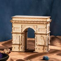 118pcs DIY 3D Arc de Triomphe Wooden Puzzle Game Popular Toy Gift for Kids - $92.99