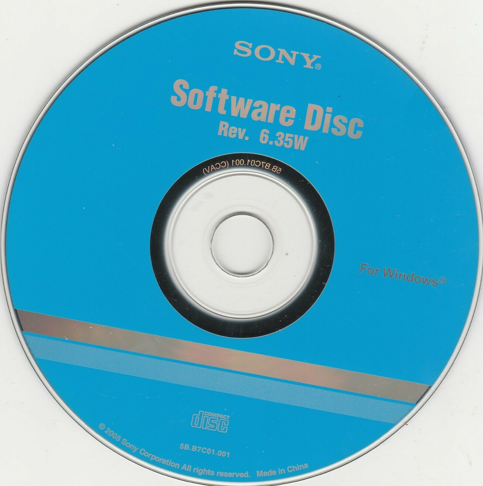 Primary image for Software Disc CD-Rom Disc Rev. 6.35W by Sony for WINDOWS ~ 2005