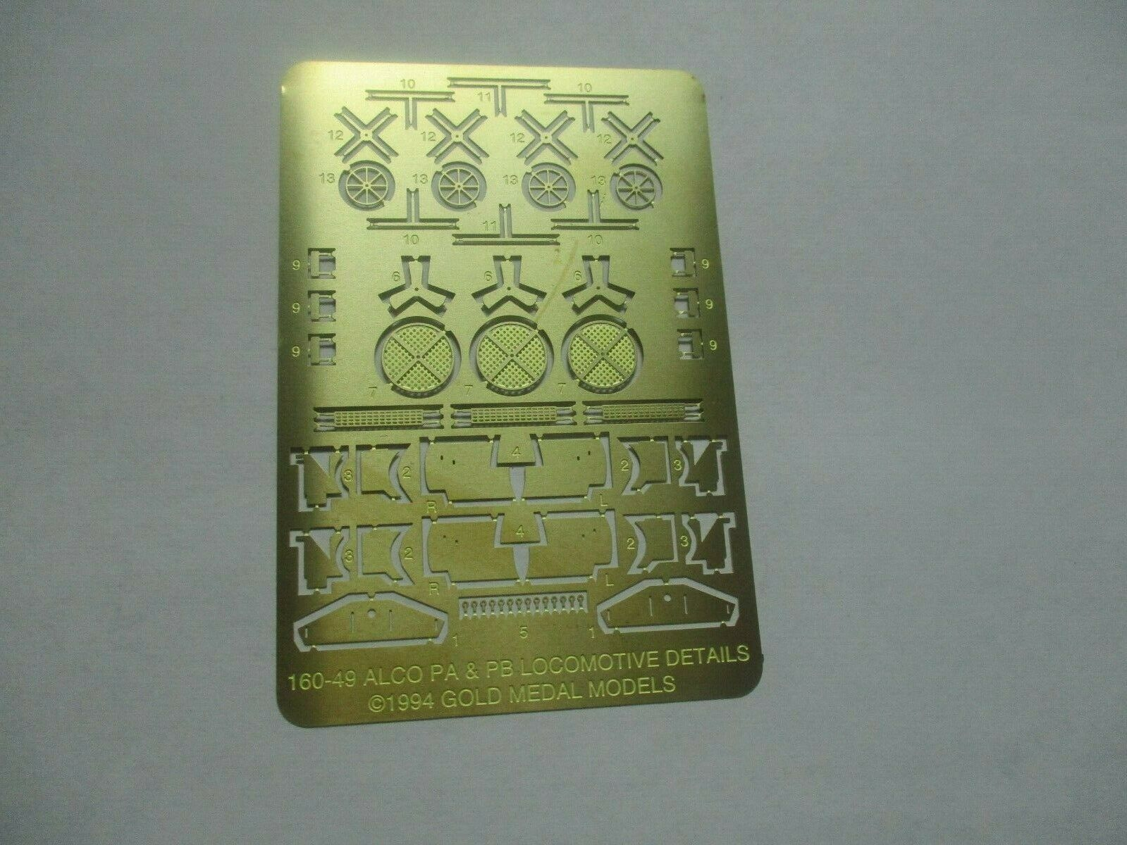 Gold Medal Models # 160-49 Con-Cor Alco PA/PDB Diesel Loco Detail Parts N-Scale