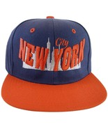 City Hunter New York Skyline Men's Adjustable Snapback Baseball Cap Navy... - $11.95