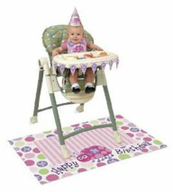 1st Birthday Pink Ladybug Party High Chair Decorating kit Lady Bug - $5.99