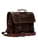 Leather Satchel Messenger Man Hand Bag Laptop Briefcase Men Genuine Vintage - $64.75+
