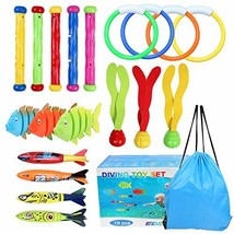 OWUDE Underwater Diving Pool Toys 19PCS Set Diving Rings Diving Toypedo ... - $23.16
