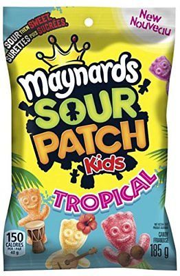 Primary image for  Maynards Sour Patch kids Tropical 10 bags 185g each Canadian Made