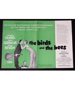 THE BIRDS AND THE BEES MITZI GAYNOR 1956 PROMO MOVIE AD POSTER ADVERTISE... - $33.77