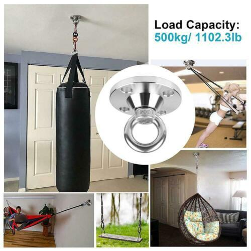 TSSS 360° Rotating Ceiling Hook Swing Hammock Set - Up to 500 kg Load...