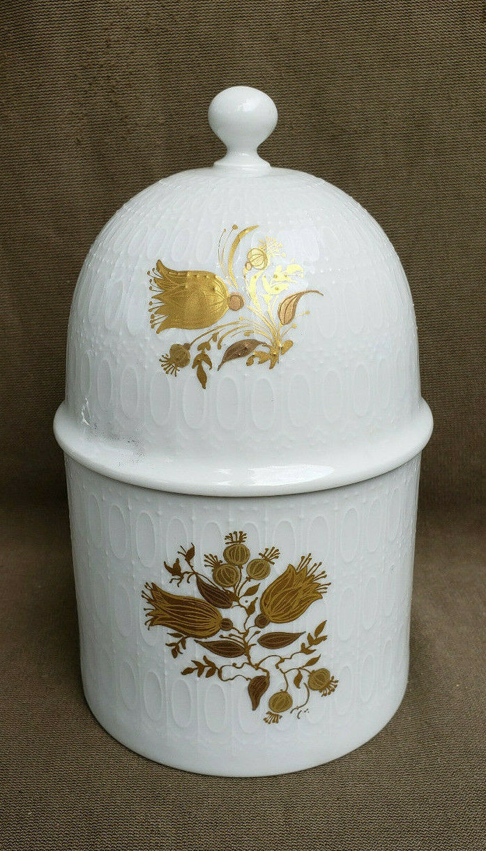 Primary image for ROSENTHAL China - ROMANCE Pattern (Gold Tulips) - CANDY JAR