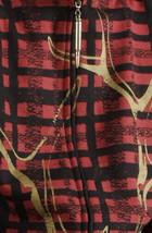 Cardboard Robot Mens Red Black Plaid Deer Antler Rack Zip Up Hoodie Medium NWT image 2