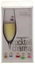 Going Stemless Handbag Wine Charms Cocktail Magnetic Set 6 Drink Purse X... - $23.49