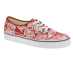 VANS Authentic (OTW) Red True White Logo Mix Skate Shoes Mens Size - $59.95