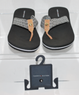 Black and White Summer Fabric Flip Flops by Tommy Hilfiger Corrale-H Siz... - $24.99